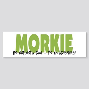 Morkie ADVENTURE Sticker (Bumper)